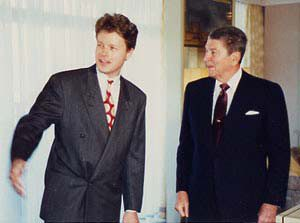 CF with President Ronald Reagan