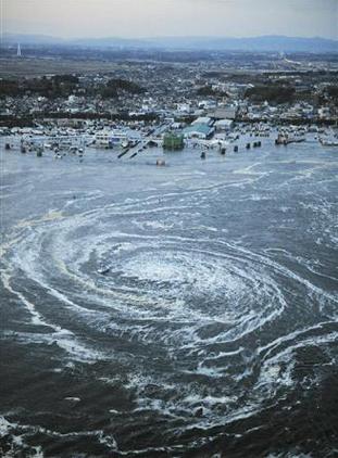 Whirlpool created by Tsunami