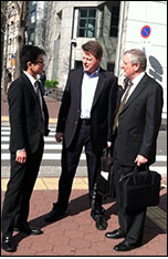 Clients at the US Consulate in Osaka